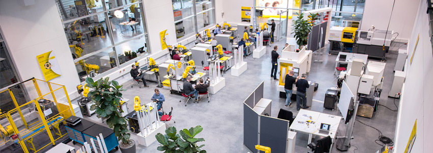FANUC training academy for factory automation