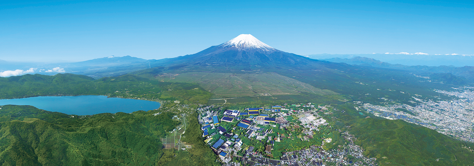 Fanuc City near by Mount Fuji