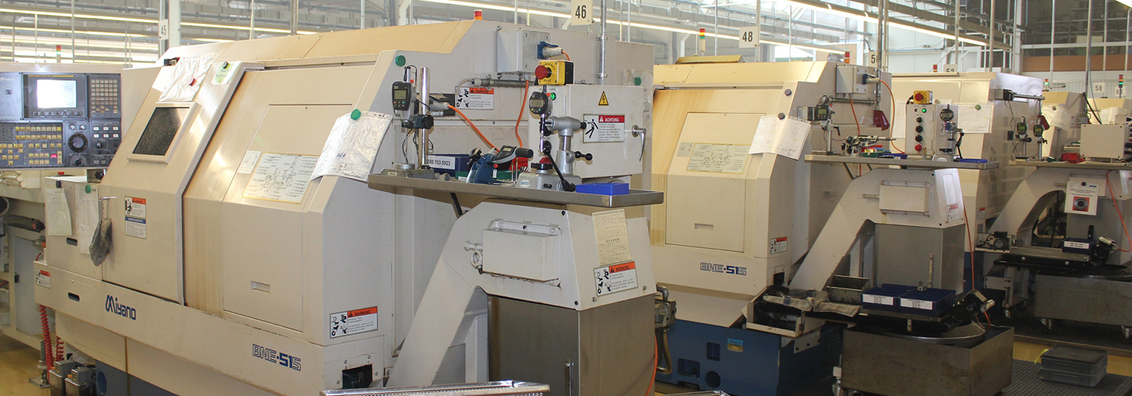 Seeger production facility with CNC machines