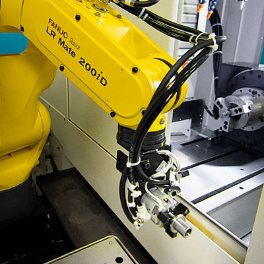 Robot loading a CNC machine