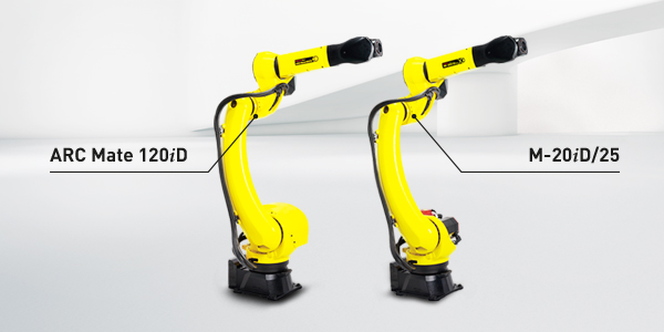 FANUC has expanded its extensive range of models by two robots: the M-20iD/25 handling robot and the welding version ARC Mate 120iD.
