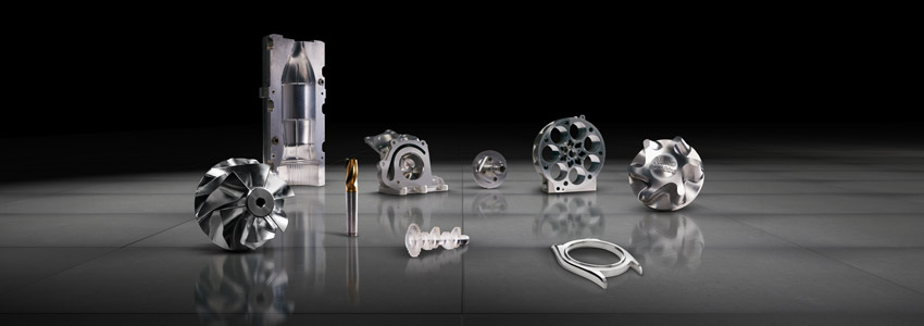 Workpieces created with FANUC machines