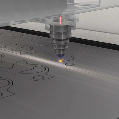 CNC laser cutting metal sheet