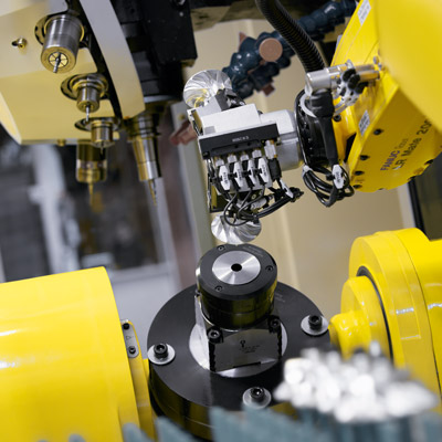 Rotary table and tool changer inside robodrill