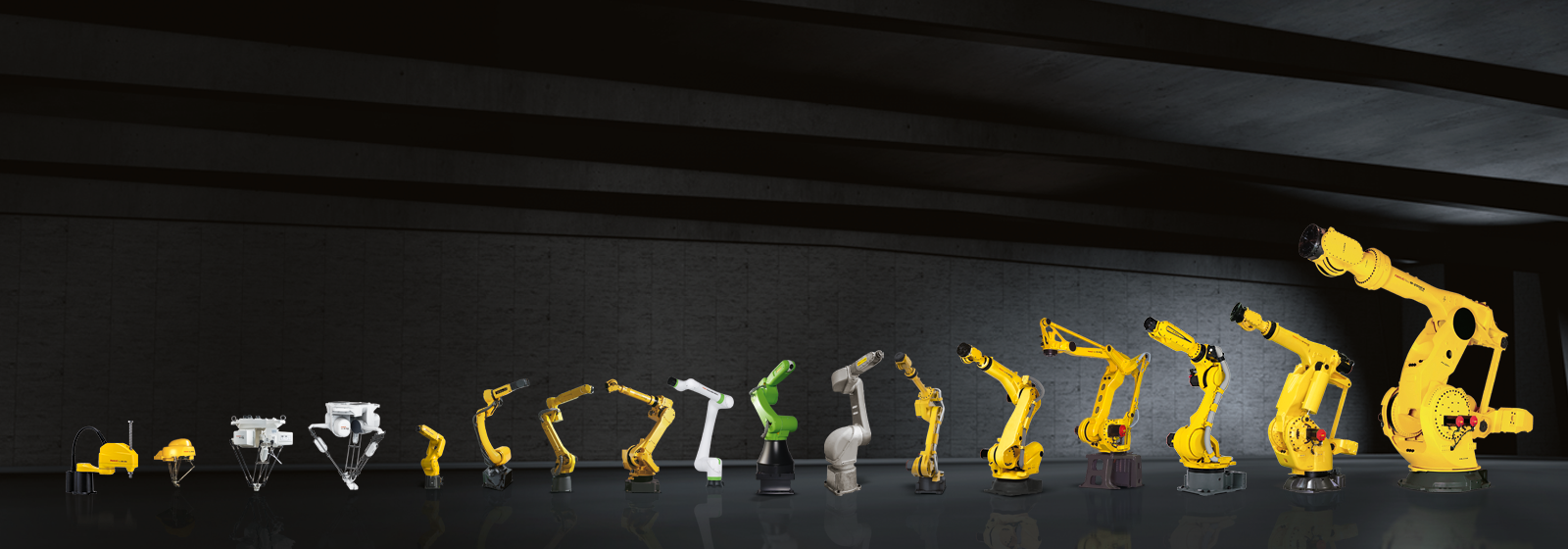 Range overview of all Fanuc robots