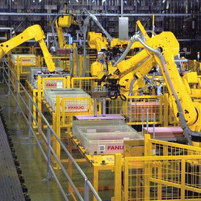 FANUC Robots working in our own production lines