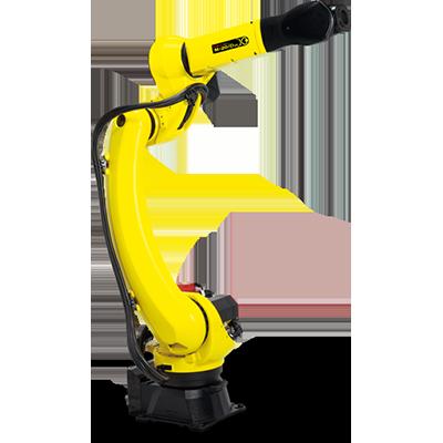Robotic parts handling in a small footprint
