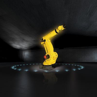 Nagy teherbírású 6 tengelyű robot nagy szerkezeti merevséggel és kiterjedt  munkatartománnyal nagyméretű alkatrészek mozgatásához c48b1b77ab