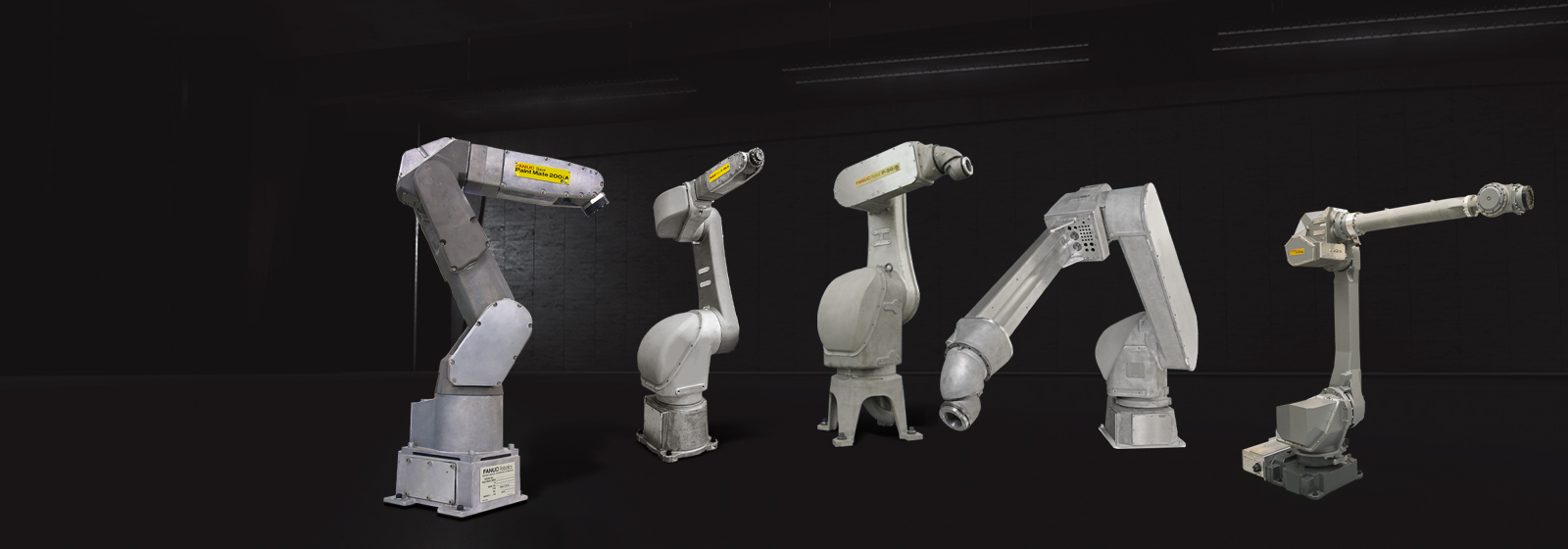 Overview of FANUC paint robot range